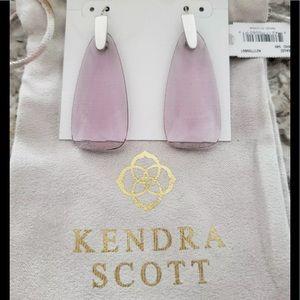 Kendra Scott Maize Violet glass & rhodium earrings